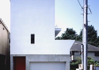 Concrete-home-by-Takuro-Yamamoto-Architects-overlooks-an-allotment-and-woods-near-Tokyo-1