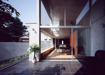 Concrete-home-by-Takuro-Yamamoto-Architects-overlooks-an-allotment-and-woods-near-Tokyo-13
