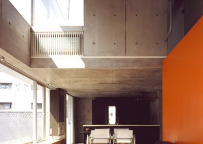 Concrete-home-by-Takuro-Yamamoto-Architects-overlooks-an-allotment-and-woods-near-Tokyo-2
