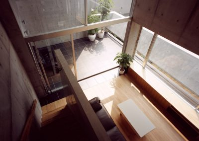 Concrete-home-by-Takuro-Yamamoto-Architects-overlooks-an-allotment-and-woods-near-Tokyo-7