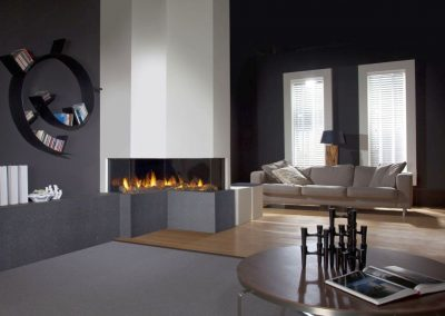 modern-fireplace-designs-with-glass-on-living-room-with-unique-bookshelf
